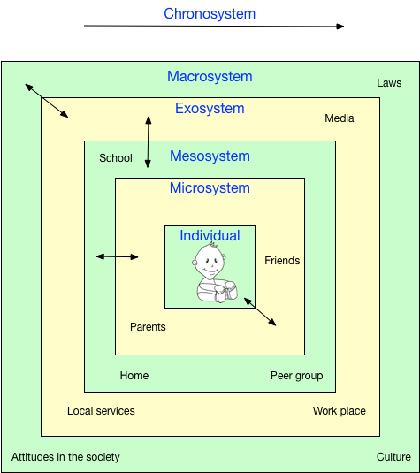 Bronfenbrenner's ecological systems theory.