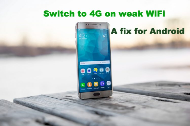Force Android to switch to mobile internet on weak WiFi