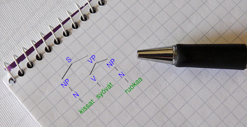 a pen and a syntactic tree
