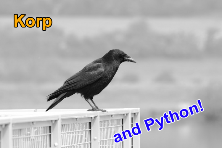 Korp and Python. Access corpora from your Python code!