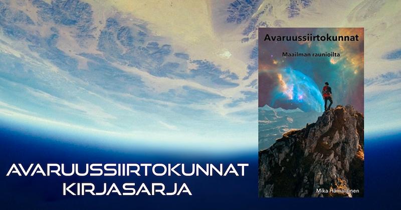 Avaruussiirtokunnat Maailman Raunioilta kirja, kirjoittanut Mika Hämäläinen