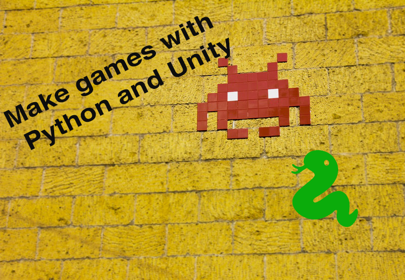 make games in Python with Unity