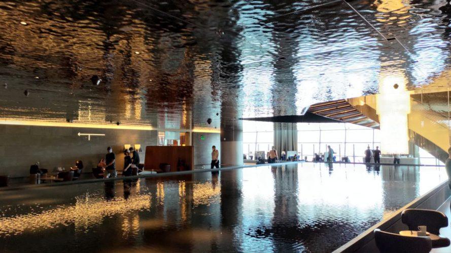 Experiencing Qatar Airways Al Mourjan Lounge in Doha
